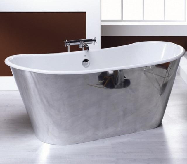 Vasca da bagno centro stanza freestanding trendy 170x68 cm - Vasca da bagno in ghisa ...