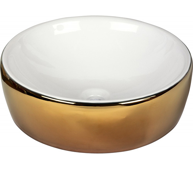 Lavabo White and Gold